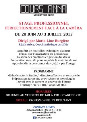 Stage acteurs à Neuilly sur Seine